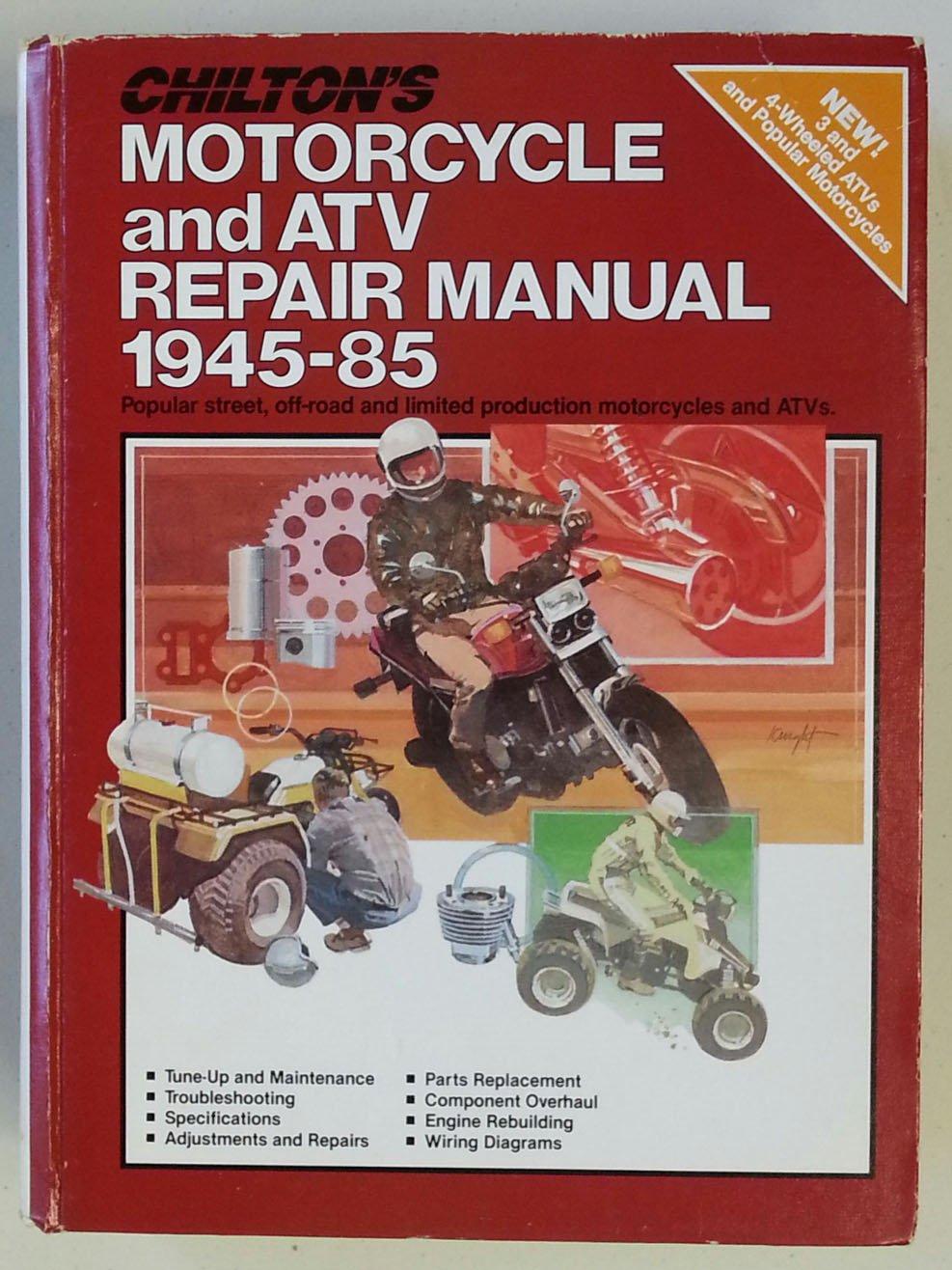 chilton s motorcycle and atv repair manual 1945 85 the nichols rh amazon com Chevy 4x4 Repair Manual Car Repair Manual Online
