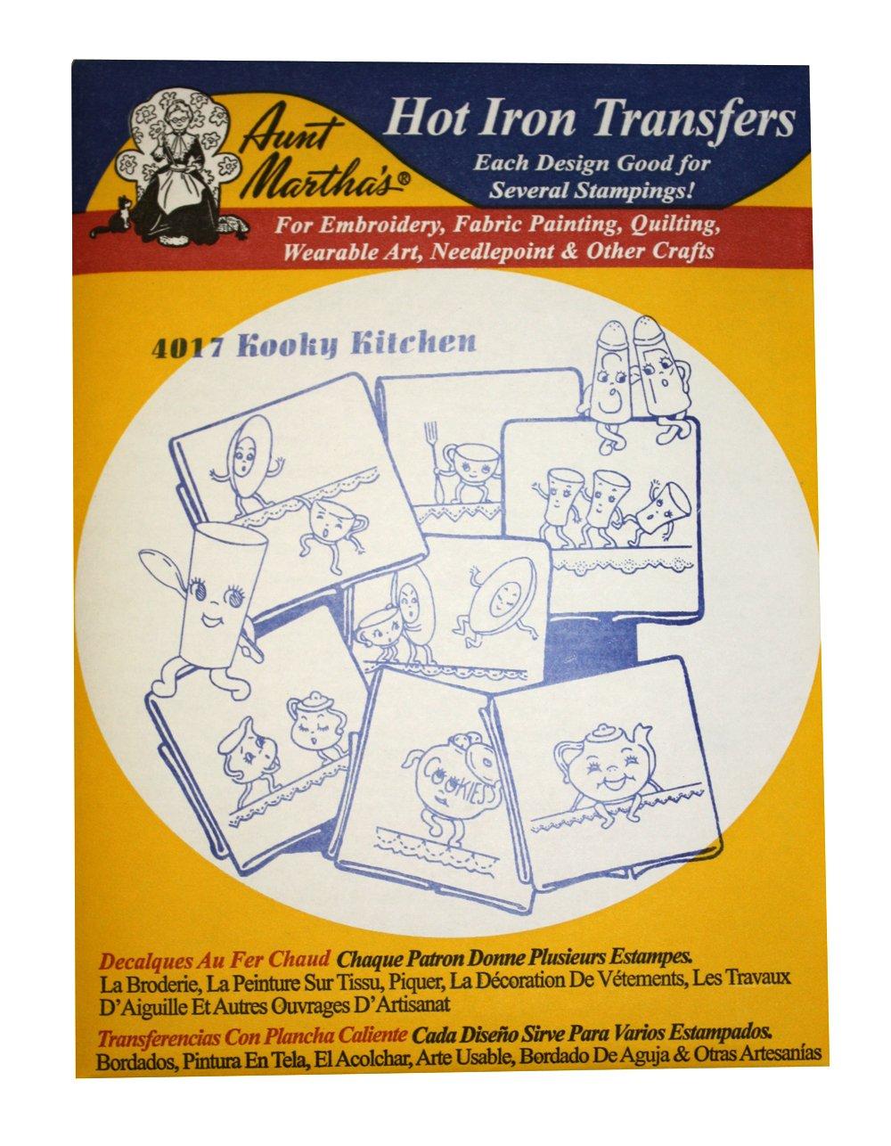 Amazon.com: Aunt Martha\'s Iron On Transfer Patterns for Stitching ...