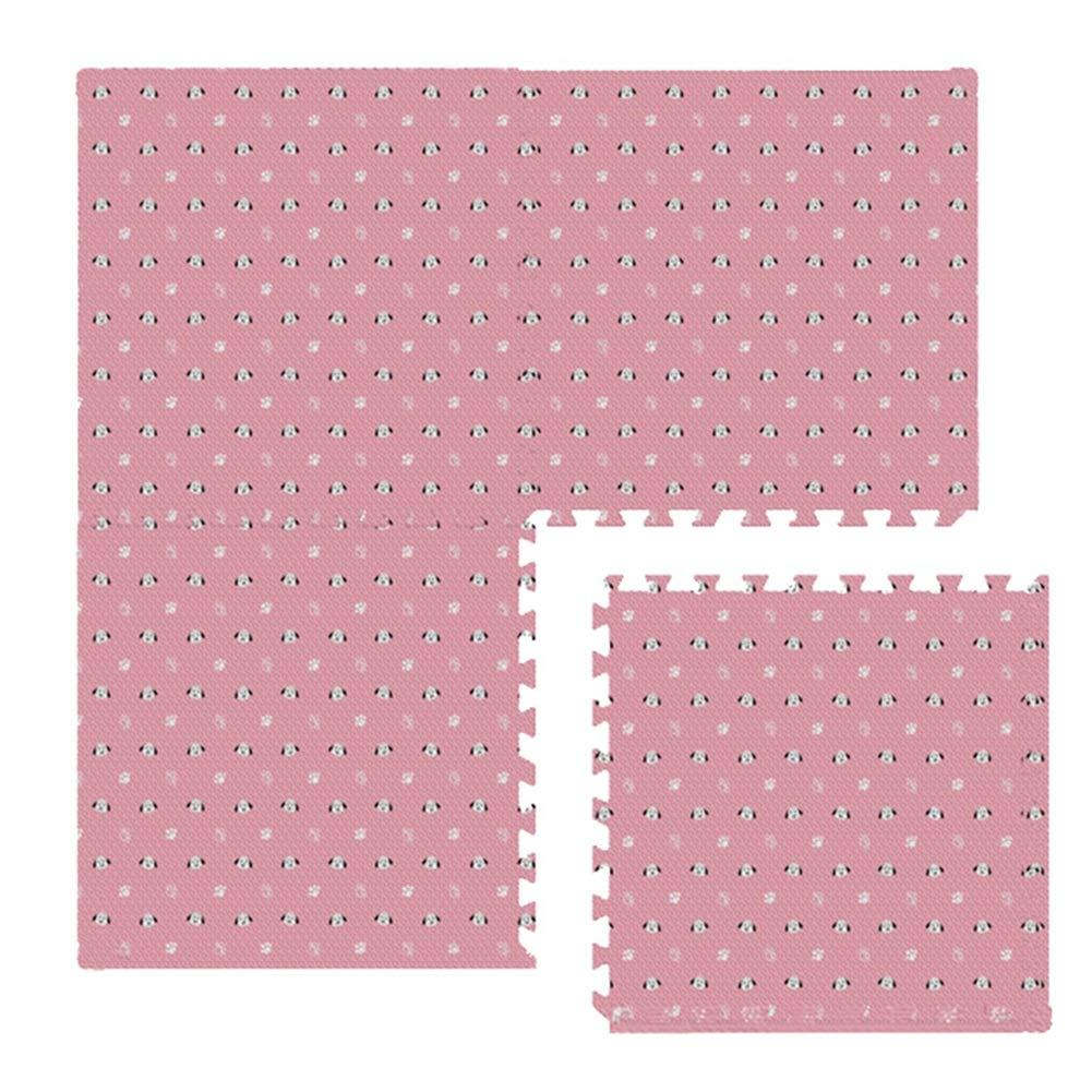 B 8pcs GUORRUI-tapis puzzle en mousse EVA Plus épais Doux Garder Au Chaud épissure Enfant Manette De Jeu Chambre Studio De Danse, 4 Couleurs Combinaison Libre (Couleur   C, Taille   32pcs)