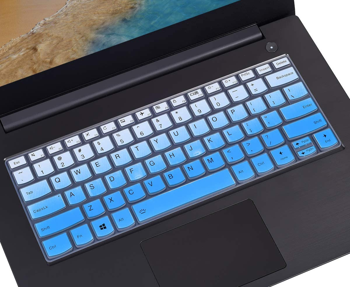 Keyboard Cover Protector Compatible with Lenovo Yoga 730 720 13.3 inch, Lenovo Yoga 720 12.5 inch, Lenovo Yoga 920 C930 13.9 inch Soft-Touch Keyboard Protective Skin, Gradual Blue