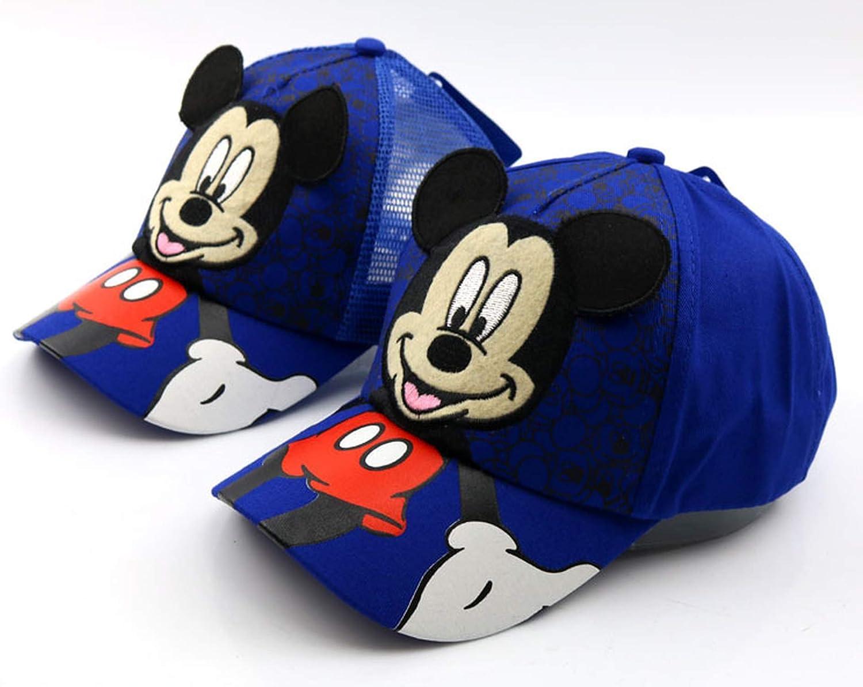 New Lovely Mesh Baseball Cap Boys Girls Adjustable Caps Fashion Cartoon Mickey Minnie Children Snapback Hat