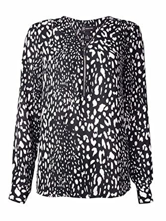 a5684385e87c4d Image Unavailable. Image not available for. Color: INC International  Concepts Women's Animal Print Blouse ...