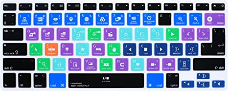 HRH Spanish Hot key Shortcut Function Silicone Keyboard Cover Skin for MacBook Air 13,Macbook Pro 13//15//17 /&Older iMac EU Layout-PS Adobe Photoshop with or w//out Retina Display, 2015 or Older Version