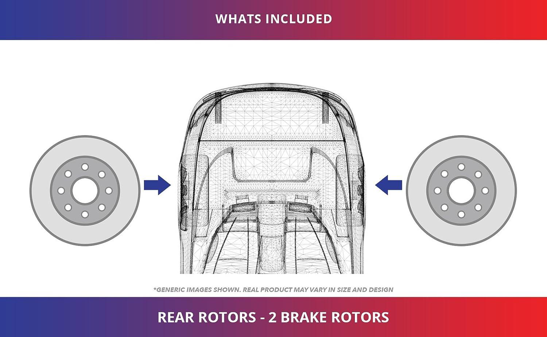 2 Black Coated Cross-Drilled Disc Brake Rotors High-End 5lug Rear Rotors Fits:- Civic CSX Prelude