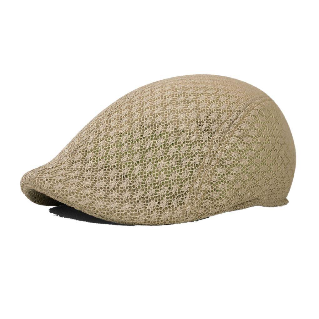 af26c9ddff3f5 Duck Mesh Summer Gatsby Cap Mens Ivy Hat Golf Driving Sun Flat Cabbie  Newsboy at Amazon Men s Clothing store