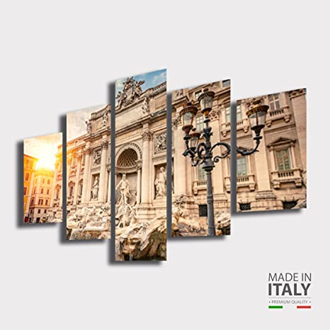 Quadro Moderno soggiorno ROMA Fontana di Trevi città citta ...