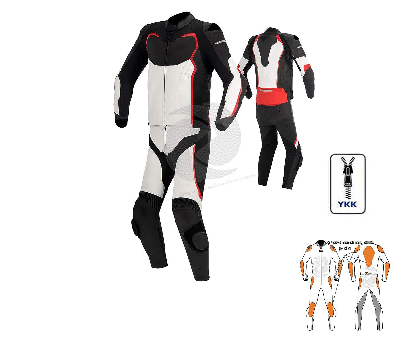 Zens Traje de piel para motocicleta, traje de dos piezas, traje de ...