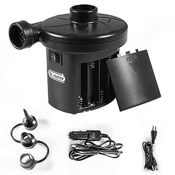 Dr.meter Inflador Electrico, Bomba de inflado eléctrica con batería Inflado /Desinflado.