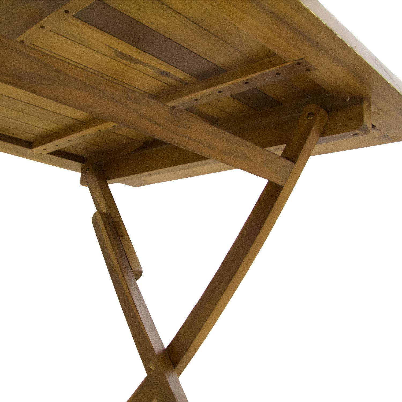 Mesa de jardín Teca Rectangular 120 cm | Madera Teca Grado A ...