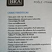 BRA Connect - Sartén 28 cm, aluminio fundido con antiadherente Profile y tecnología Bi-Clad, apta para todo tipo de cocinas incluida inducción, libre ...