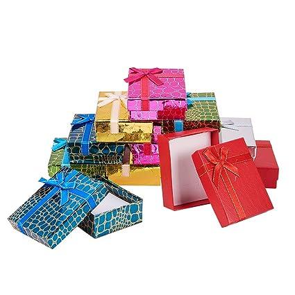 NBEADS Cajas de regalo de cartón con nudo de lazo, 12 unidades, para colgante