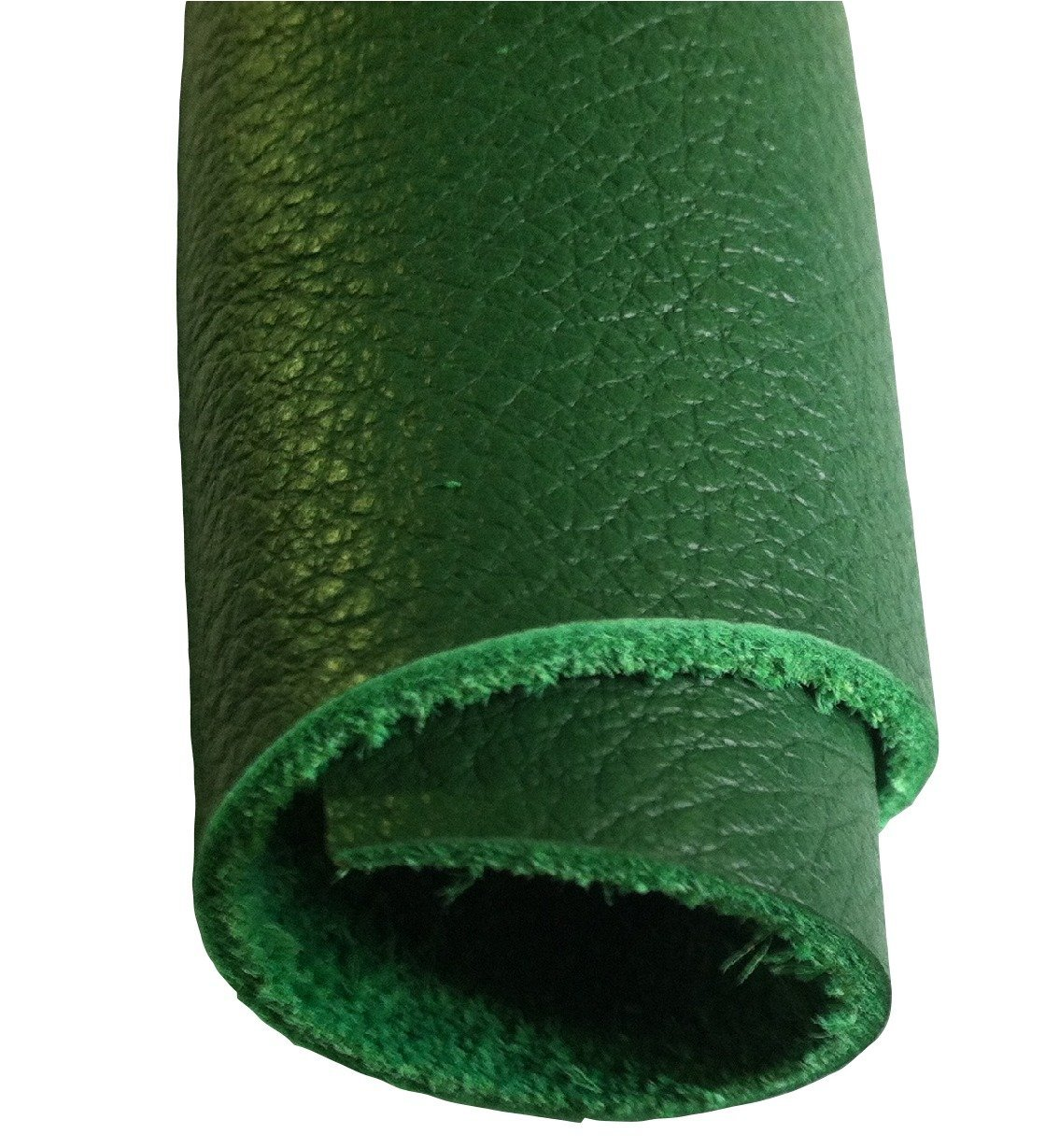Exotic Leather Hides - Leather Hide Skins 7 to 10 Sf - Various Designs & Colors (Green)