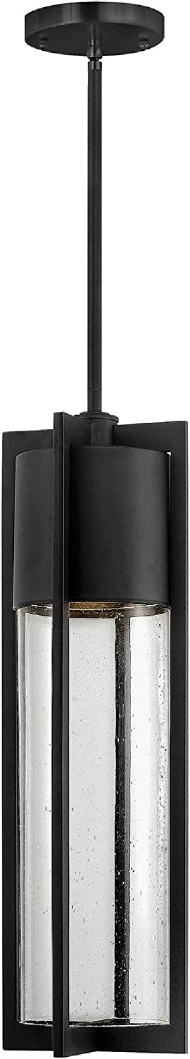 Hinkley 1322BK Transitional One Light Hanging Lantern from Shelter Collection in Black Finish