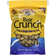 Charlee Bear Crunch Grain Free Dog Treats - Bacon and Blueberry Flavor - 8 oz Packs