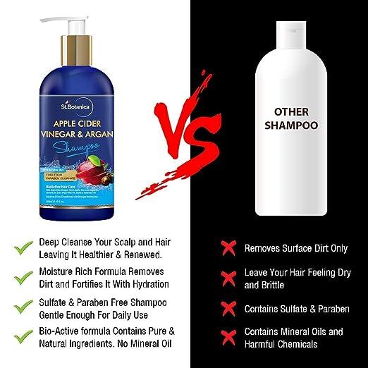 Amazon.com: StBotanica Champú para el cabello con vinagre de ...