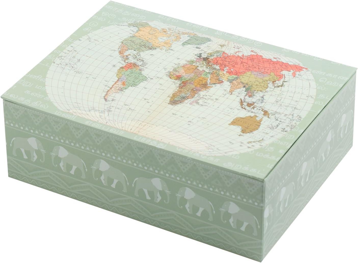 Creibo CBOX005 - Caja Cartón Decorada Mapa Mundo: Amazon.es: Hogar