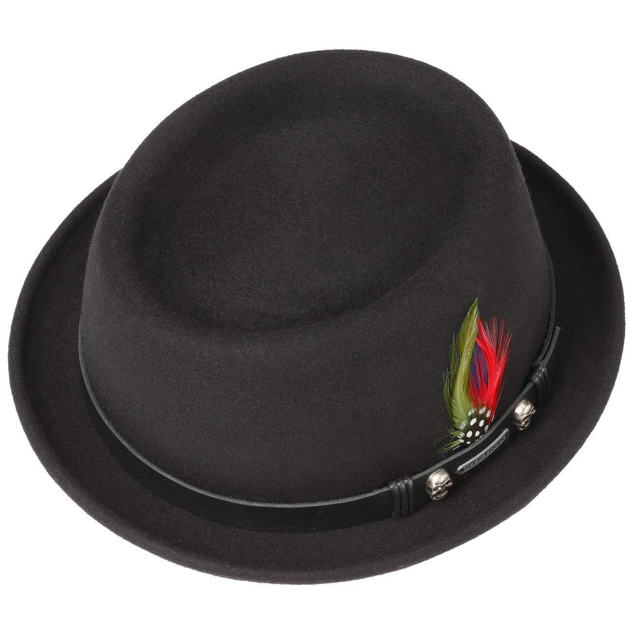 Stetson Black Pennsylvania Wool Felt Rock N Roll Classic Pork Pie Hat