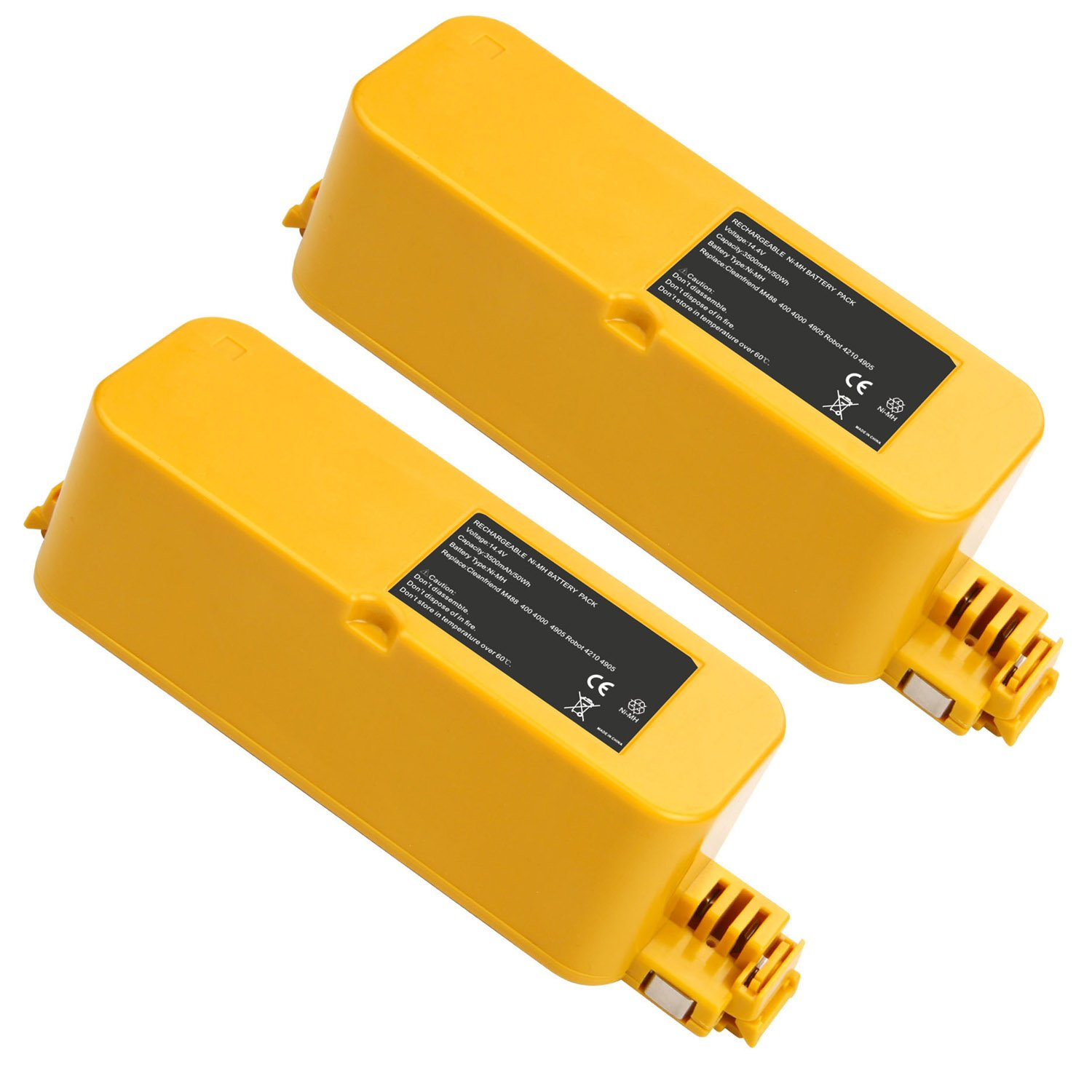 14.4V 3500mAh Ni-MH Replacement Battery for iRobot Roomba 400 series Roomba 400 405 410 415 416 418 4000 4100 4105 4110 4130 4150 4170 4188 4210 4220 4225 4230 4232 4260 4296 Vacuum Cleaner (2-pack) by Fancy Buying
