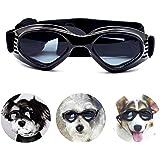 PEDOMUS - Gafas de Sol para Perros, Correas Ajustables para Gafas de Sol UV, protección Impermeable para Perros pequeños…