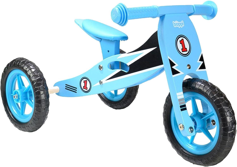 boppi® Triciclo de Madera 2 en 1 – Bicicleta sin Pedales