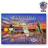 Florida Map Orlando.Amazon Com Greetings From Orlando Vintage Reprint Postcard Set Of