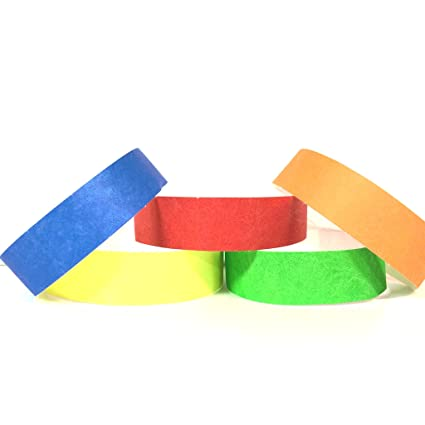 Variety Pack Of 500 Tyvek Wristbands