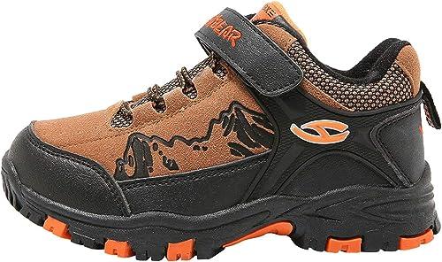 HOBIBEAR Boys Outdoor Hiking Shoes Kids Waterproof Athletic Sneakers HA601