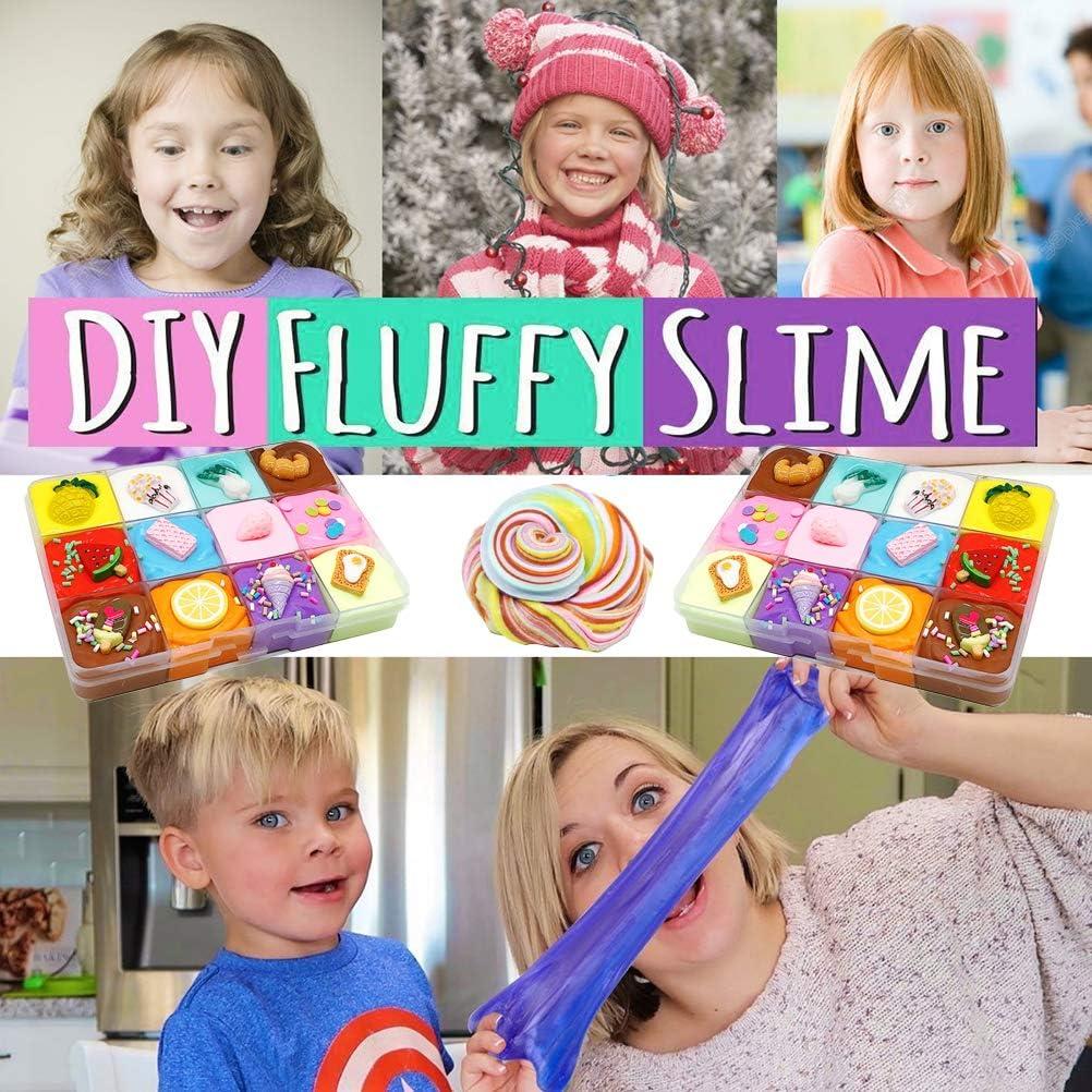 Schlamm Obstschale Stressabbau-Spielzeug f/ür Kinder und Erwachsene JMF DIY Flauschiger Schleim keine Viskosit/ät tolles Geschenk ungiftige Baumwolle Schleim