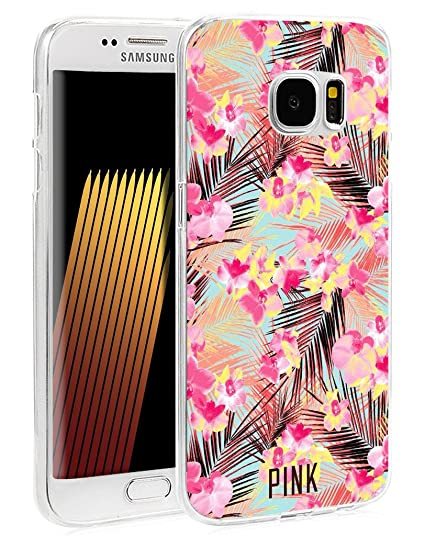the best attitude a12f9 7fbd6 S7 Edge Case - Case for Galaxy S7 Edge - Cover Compatible for Samsung S7  Edge - Girly Pink Flower Floral Texture Art (Flexible TPU Protective ...