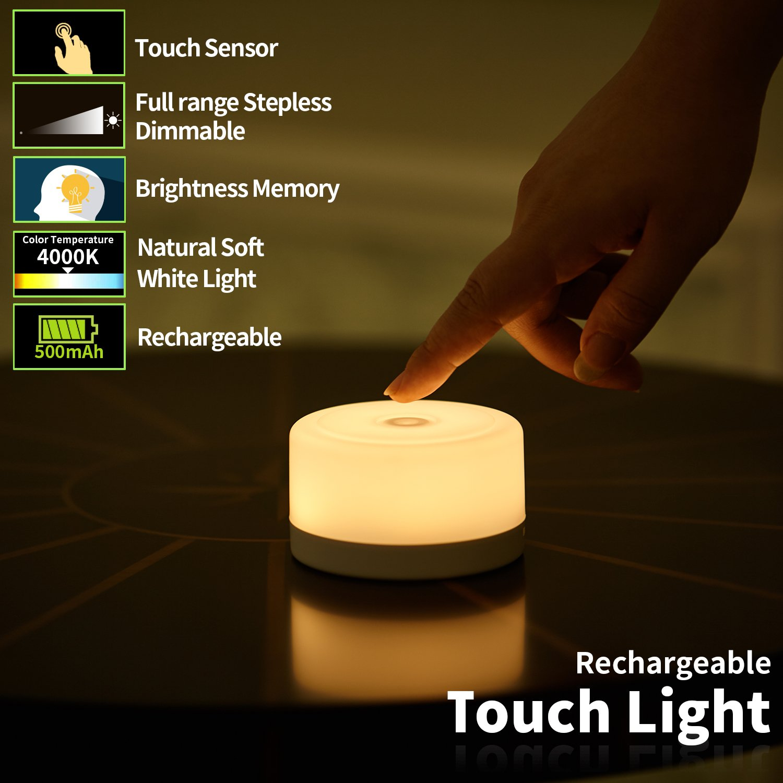 FC-Fancier Dimmable Light,Touch Sensor Bedside Lamp, Kids Children Adult Nightlight,Bedroom Living Room Baby Nursery Night Light by FC-Fancier