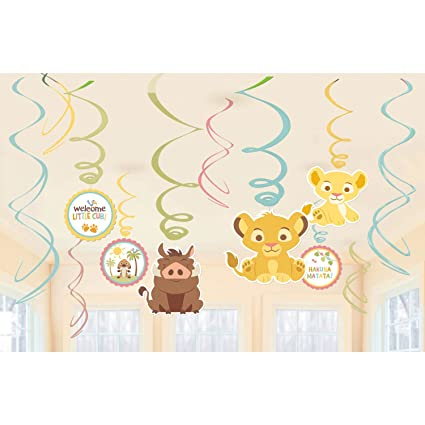 Amazon Com Lion King Baby Shower Hanging Swirl Decorations Party