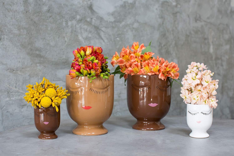 Celfie Vase Large, Vanilla