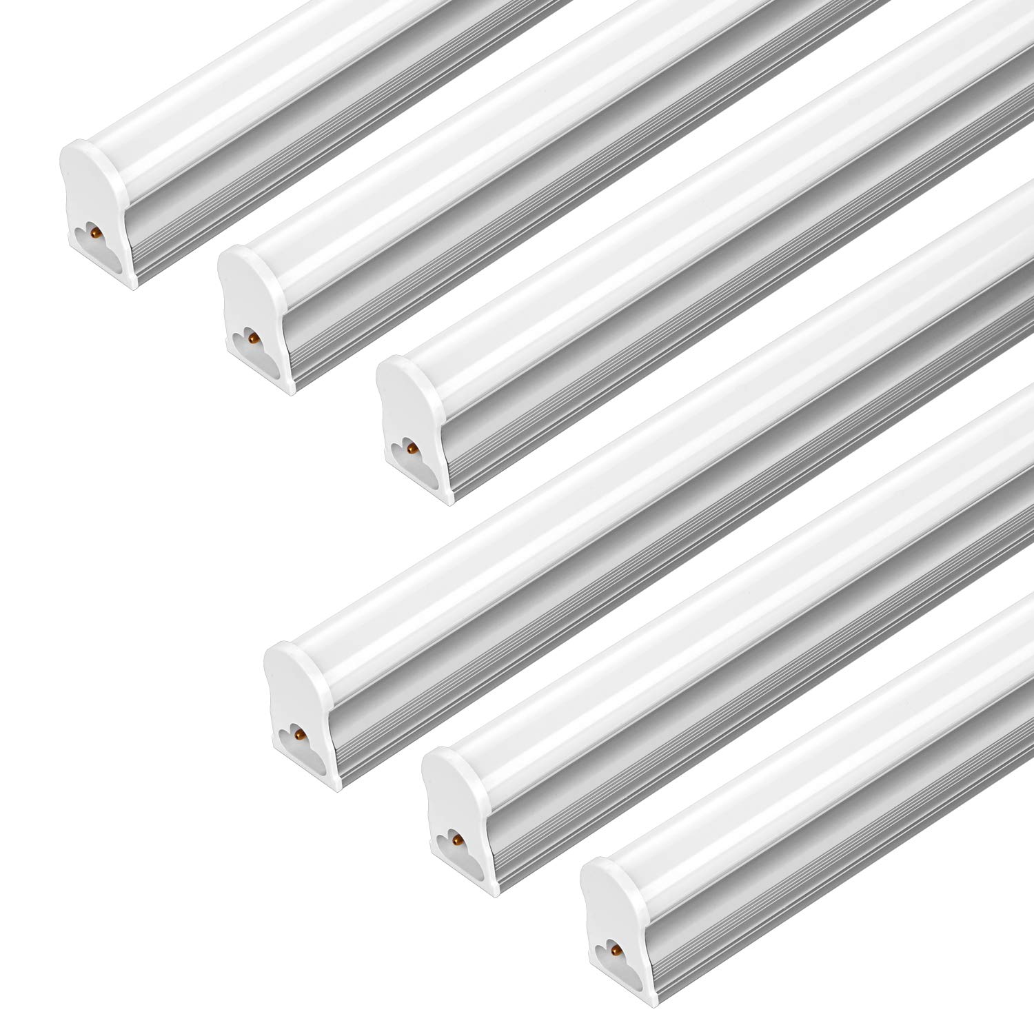 FrenchMay LED T5 mini utility linkable shop light 4ft, 22W, 85CRI, 2200Lumens, 5000K, 32w Fluorescent Equivalent, integrated ceiling light & under Cabinet shop light for garage, workshop, basement by FrenchMay (Image #1)