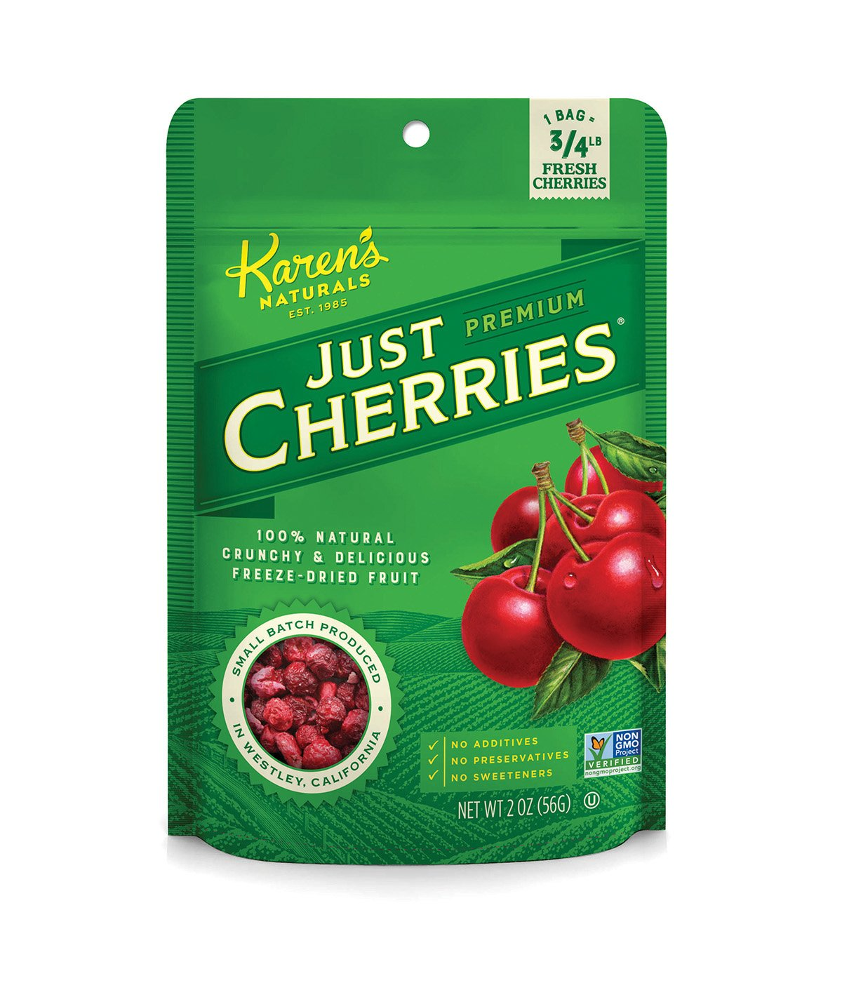Karen's Naturals  Just Cherries 2 Ounce Pouch (Packaging May Vary)