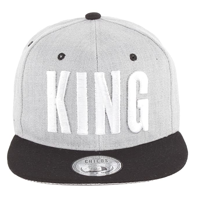 Johnny Chicos - Gorra de béisbol, diseño King & Queen KING Grey ...