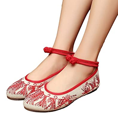 Lazutom Mary Janes pour femme - Rouge - Red XNRFVN7UR,