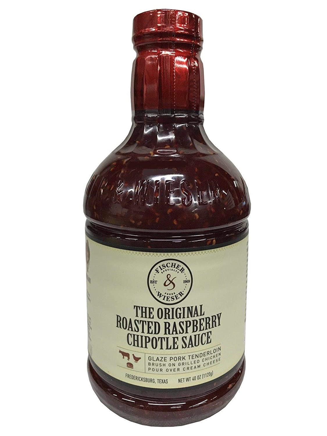 Amazon Com Fischer And Wieser Razzpotle Roasted Raspberry Chipotle Sauce 40 Ounce Bottle Spanish And Mexican Sauces Grocery Gourmet Food