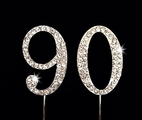 Amazoncom 90th Birthday Number Cake Topper with Sparkling