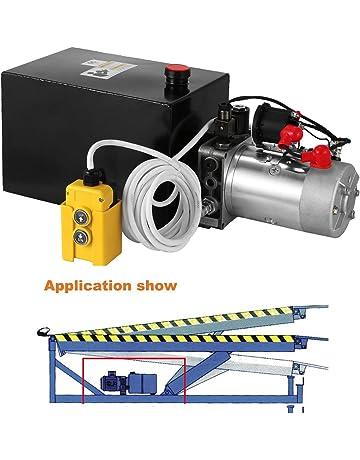 Autovictoria Bomba Hidraulica De Doble Efecto Bomba Hidraulica 12V Dump Trailer 6L Reservoir Controlado Remotamente (