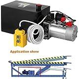 Autovictoria Bomba Hidraulica De Doble Efecto Bomba Hidraulica 12V Dump Trailer 8L Reservoir Controlado Remotamente (8L)