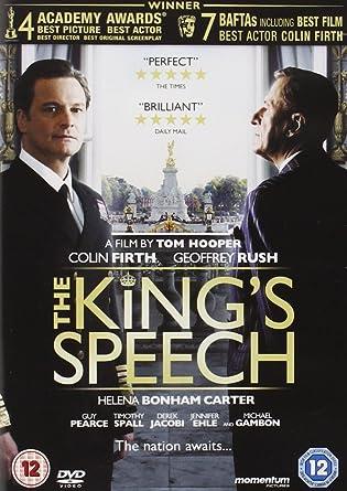 The King S Speech Dvd Amazon Co Uk Colin Firth Geoffrey Rush Michael Gambon Helena Bonham Carter Guy Pearce Timothy Spall Derek Jacobi Tom Hooper Colin Firth Geoffrey Rush Dvd Blu Ray