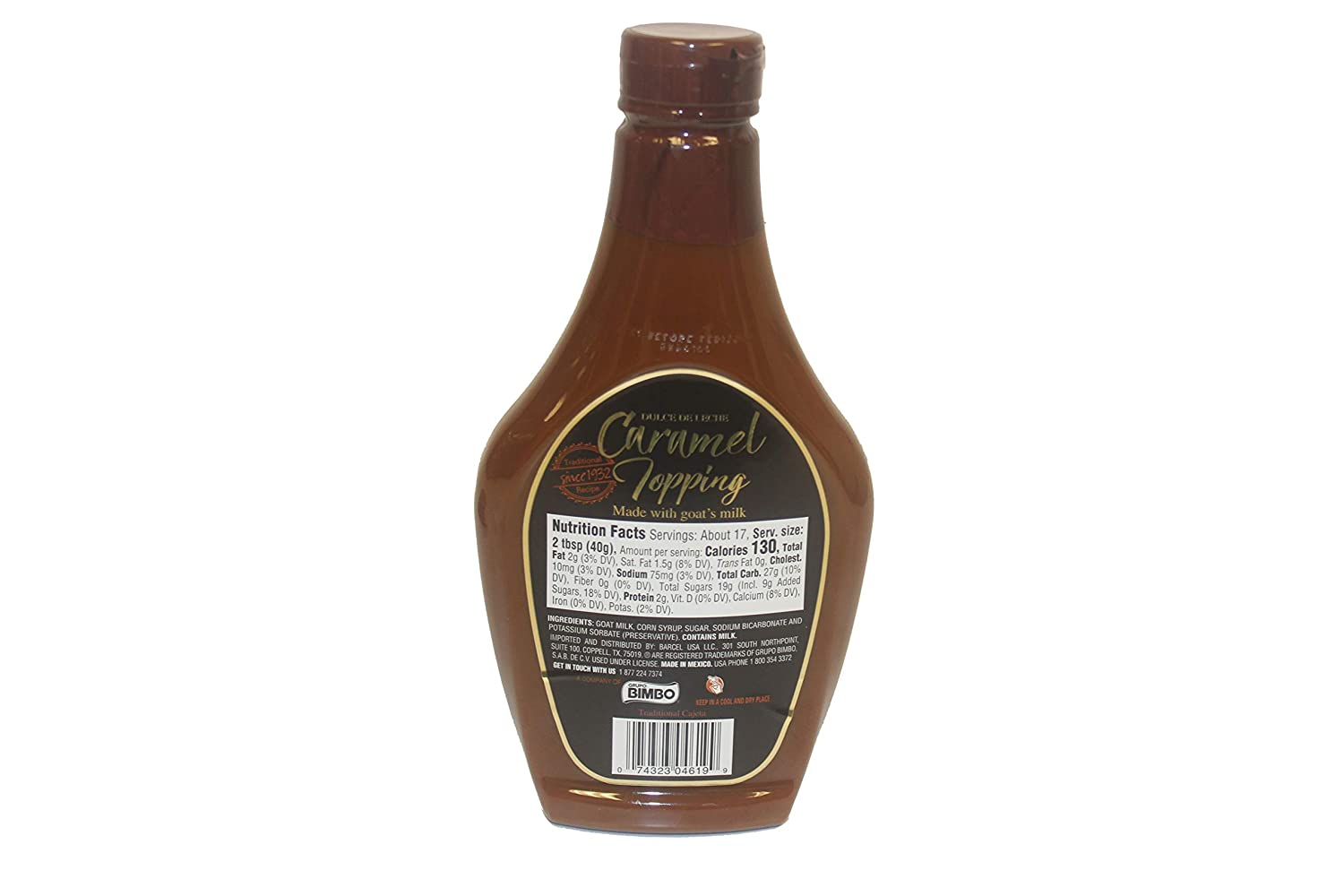 Amazon.com : CORONADO Dulce de Leche Caramel Topping - Sweet Cajeta Sauce/Spread with Real Goat Milk - Squeezable Bottle, 23.3oz (Cinnamon) : Grocery ...