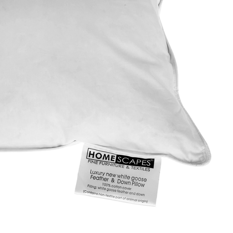 Homescapes Oreiller NATUREL pour ENFANT 40 x 60 cm Plumes et duvet doie anti-acariens.