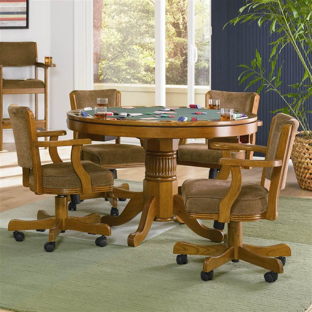 amazon com mitchell 5 pc game table set by coaster table
