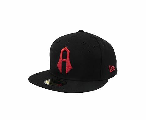 New Era 59Fifty Hat Guadalajara Atlas F.C. Soccer Club Mexican League Black  Snapback Cap (6 b06171067af