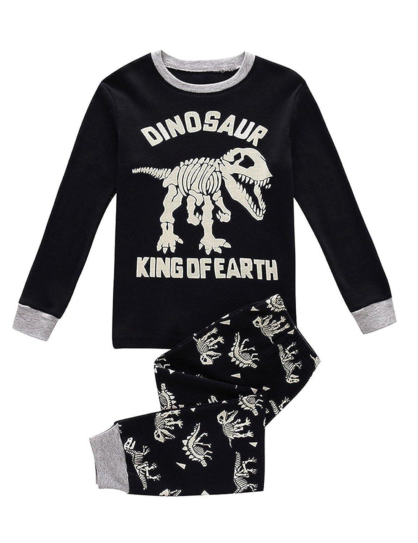Kids Dinosaur Pajamas Sets Children Clothes Set Boys Cotton Toddler Pjs Sleepwear