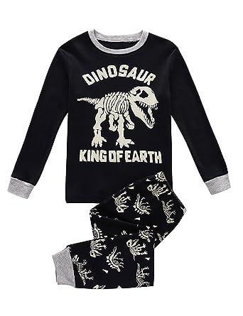 8c75b0cbc6e Kids Dinosaur Pajamas Sets Children Clothes Set Boys Cotton Toddler Pjs  Sleepwear  Amazon.co.uk  Clothing