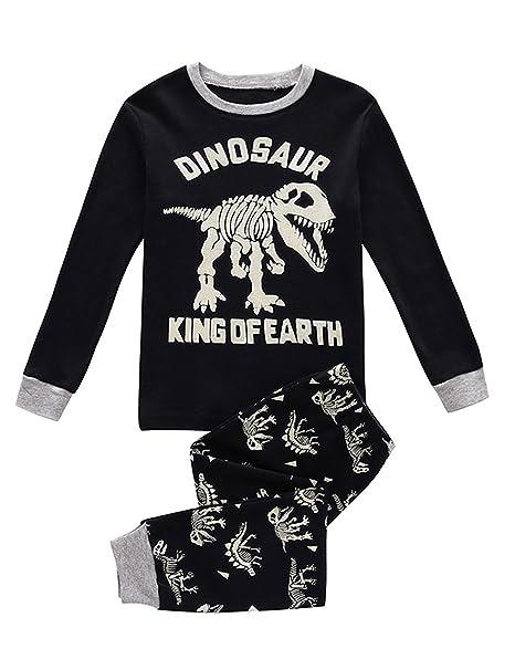 239430fb81 Niños pijama dinosaurio conjuntos de ropa de los niños Set niños algodón Pjs  ropa de dormir  Amazon.es  Ropa y accesorios