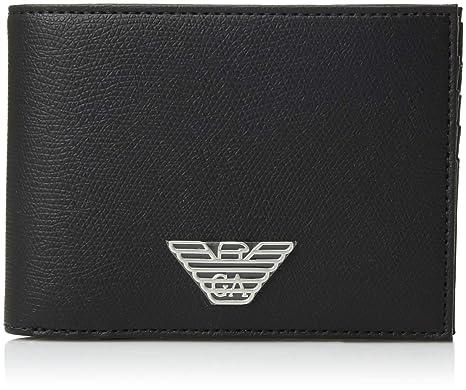 Emporio Armani portefeuille homme en cuir deux plis noir  Amazon.fr ... 503ae2a7c75