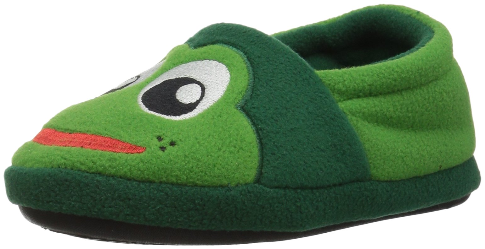 Western Chief Kids Warm and Cozy Slipper, Fritz The Frog, 8 M US Toddler